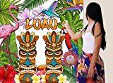 Reusable Luau Party Wall Scene Setter Photo Backdrop, 1 Piece, 71'' x 71'', 5.9ft x 5.9ft, Polyester