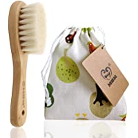 Haakaa Wooden Baby Hair Brush for Newborns and Toddlers Baby Brush Natural Soft Goat Bristles Hairbrush, Ideal for…