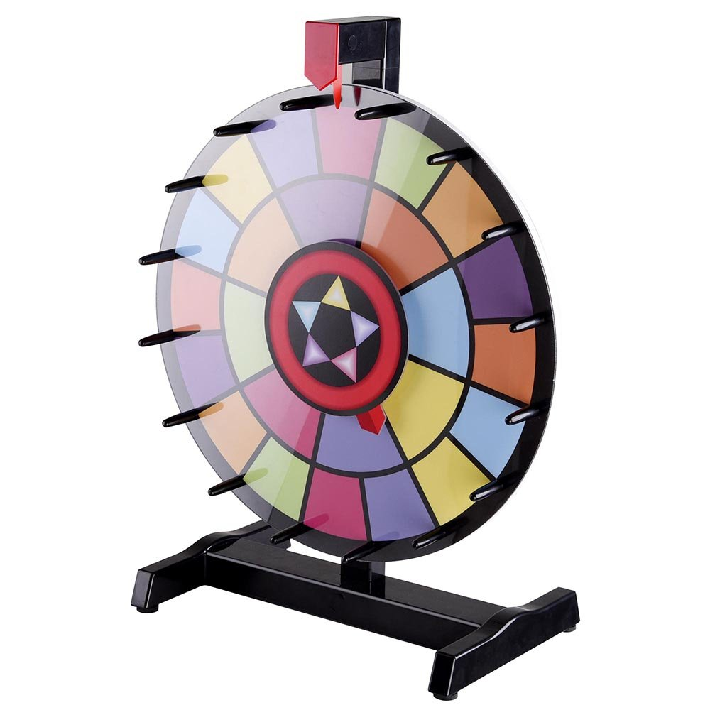 WinSpin 15'' Tabletop Editable Color Prize Wheel 2 Circles 2 Pointers Spinning Game Tradeshow Carn