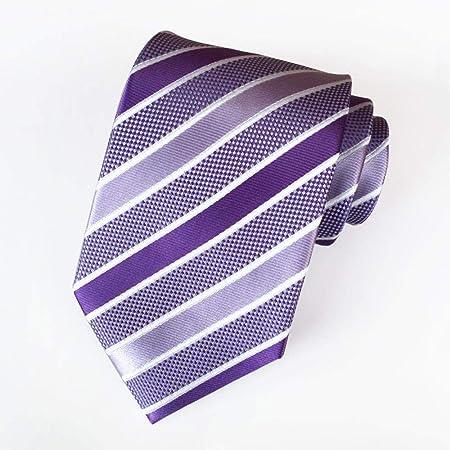 Littlefairy Hombre Designer Corbata,Nudo de Corbata de Rayas ...