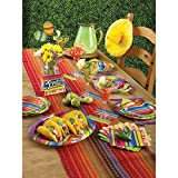 Creative Converting All Over Print Plastic Table Cover, 54 x 102, Serape