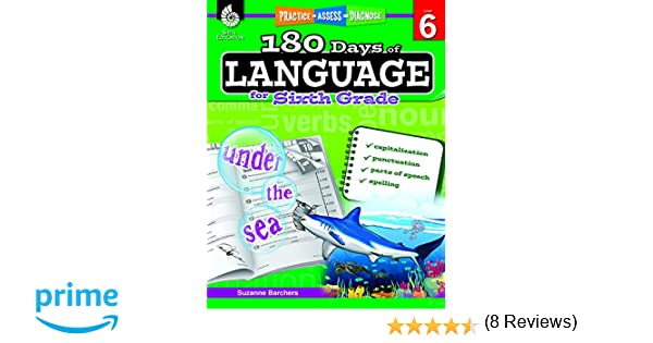 180 Days of Language for Sixth Grade (180 Days of Practice ...