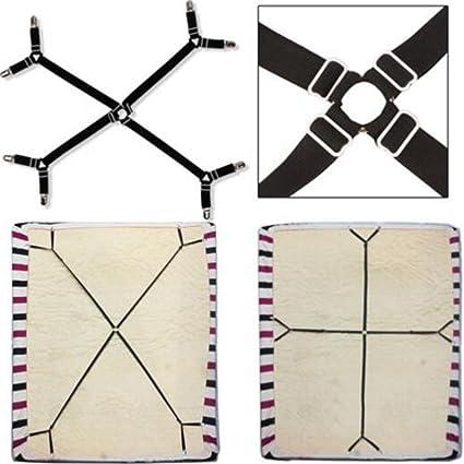 1 Set Criss Cross Adjustable Bed Fitted Sheet Straps Suspenders Gripper  Holder Fastener