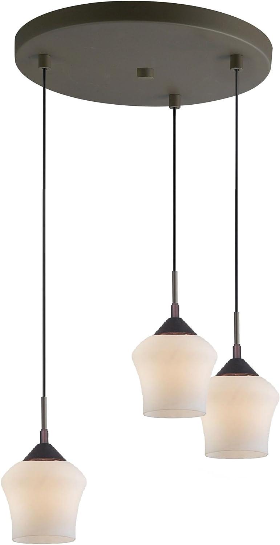Woodbridge Lighting 13224MEB-M20MTC Venezia 3-Light Multi-Light Pendant Metallic Bronze