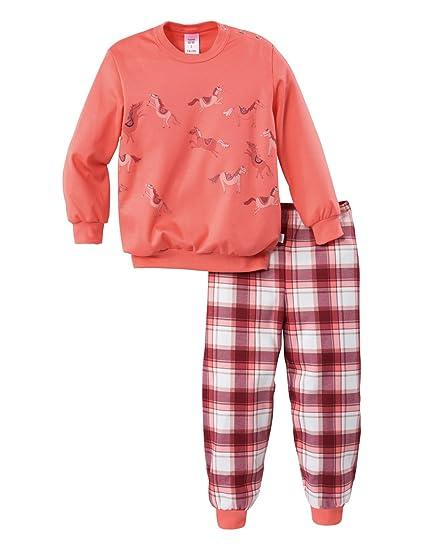 Calida My Bonny Pony KLEINKINDER Pyjama mit Bündchen, Conjuntos de Pijama para Niñas, Rojo (Porcelain Rose 125), 116 cm: Amazon.es: Ropa y accesorios