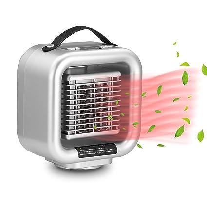 Laxus Calefactor cerámico PTC portátil de 1000 vatios, Modelo de calefacción 3, oscilación automática