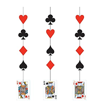 Creative Converting 3 Count Fancy Hanging Cutout Decorations, Card Night: Kitchen & Dining