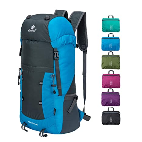 535be864661 Coreal 40L Lightweight Packable Hiking Backpack Foldable Travel Trekking  Daypack Blue