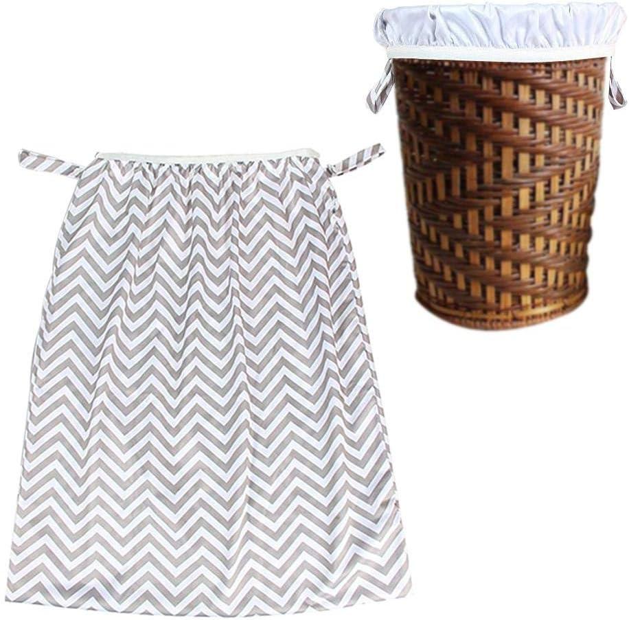 IMSHI Multifunctional Reusable Hamper Storage Bucket Bag Trash Can Storage Bag - Large Laundry Basket Waterproof Round Cotton Linen Collapsible Storage Basket