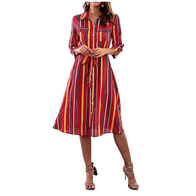 c51592cd49a309 Damen Kleid Langarm Sommer Herbst Kleid Knielang Pencil Kleid Frauen Mode  Boho Partykleid Midi Blumen Drucken