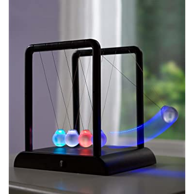 HearthSong LED Color-Changing Newton's Cradle: Toys & Games