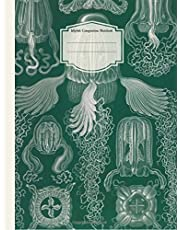 Jellyfish Composition Notebook: College Ruled: Lined Student Exercise Book,Blank Lined Book,Science,Biology,Marine life,Nature,Vintage