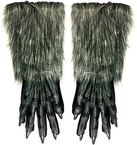 Fun World Grey Werewolf Gloves - ST -