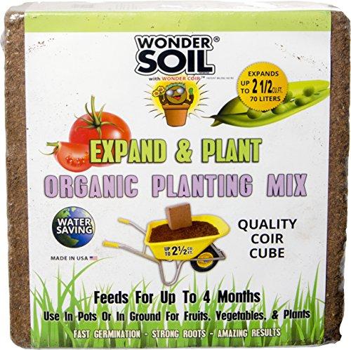 Wonder Soil Expand & Plant Organic Coir Cube, 2.5 cf