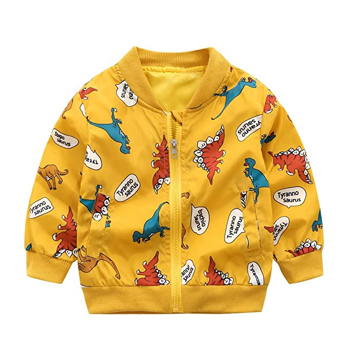 0ade9dd9427 ... niño Abrigo de Manga Larga con Estampado de Dinosaurio y Estampado de  Dinosaurio para niños pequeños para niños pequeños Outwear 1-5 Años   Amazon.es  ...