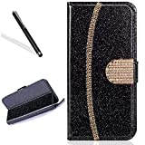 Wallet Case for iPhone 6S 4.7'',Bling Glitter Folio Case for iPhone 6 4.7''/6S 4.7'',Leecase Luxury Noble Sparkle Shining Gold Chain Design Cover for iPhone 6 4.7''/6S 4.7''