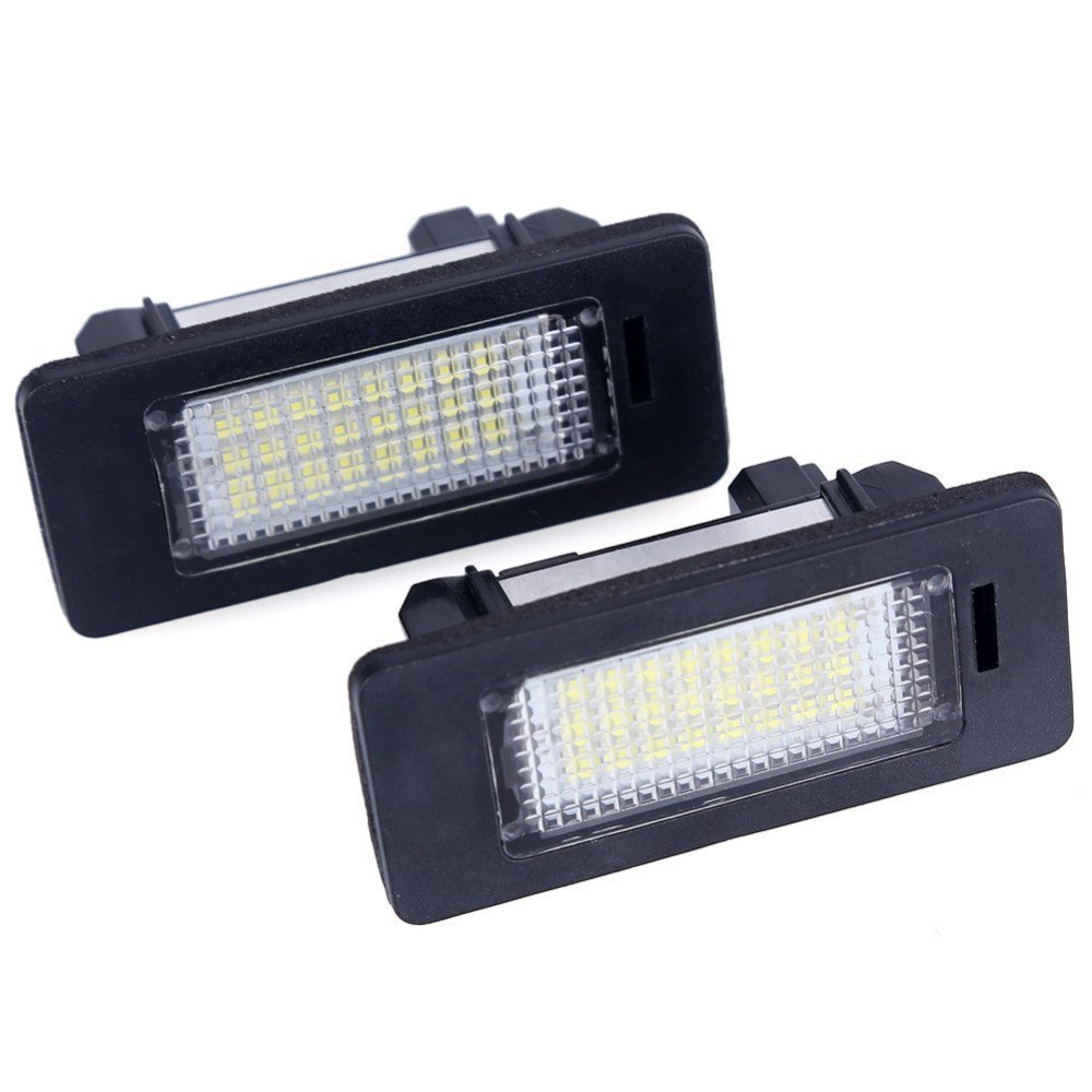 2pcs Car License Plate Light for Honda Civic Pilot Accord Odyssey Acura MDX RL TSX ILX RDX Error Free 3W 18 Led White License Tag Lights Rear Number Plate Lamp Direct Replacement