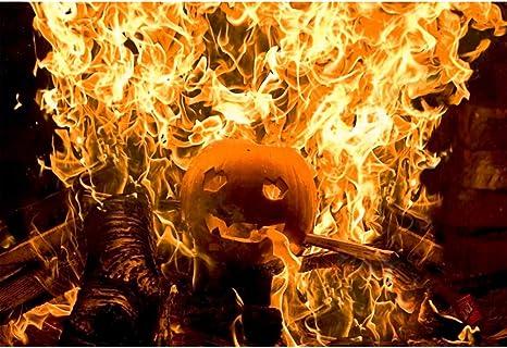 Oerju 1 5x1m Halloween Hintergrund Feuer Brennender Kamera