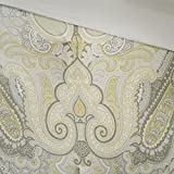 Madison Park MP10-1897 Samir 7 Piece Comforter Set, Queen, Yellow
