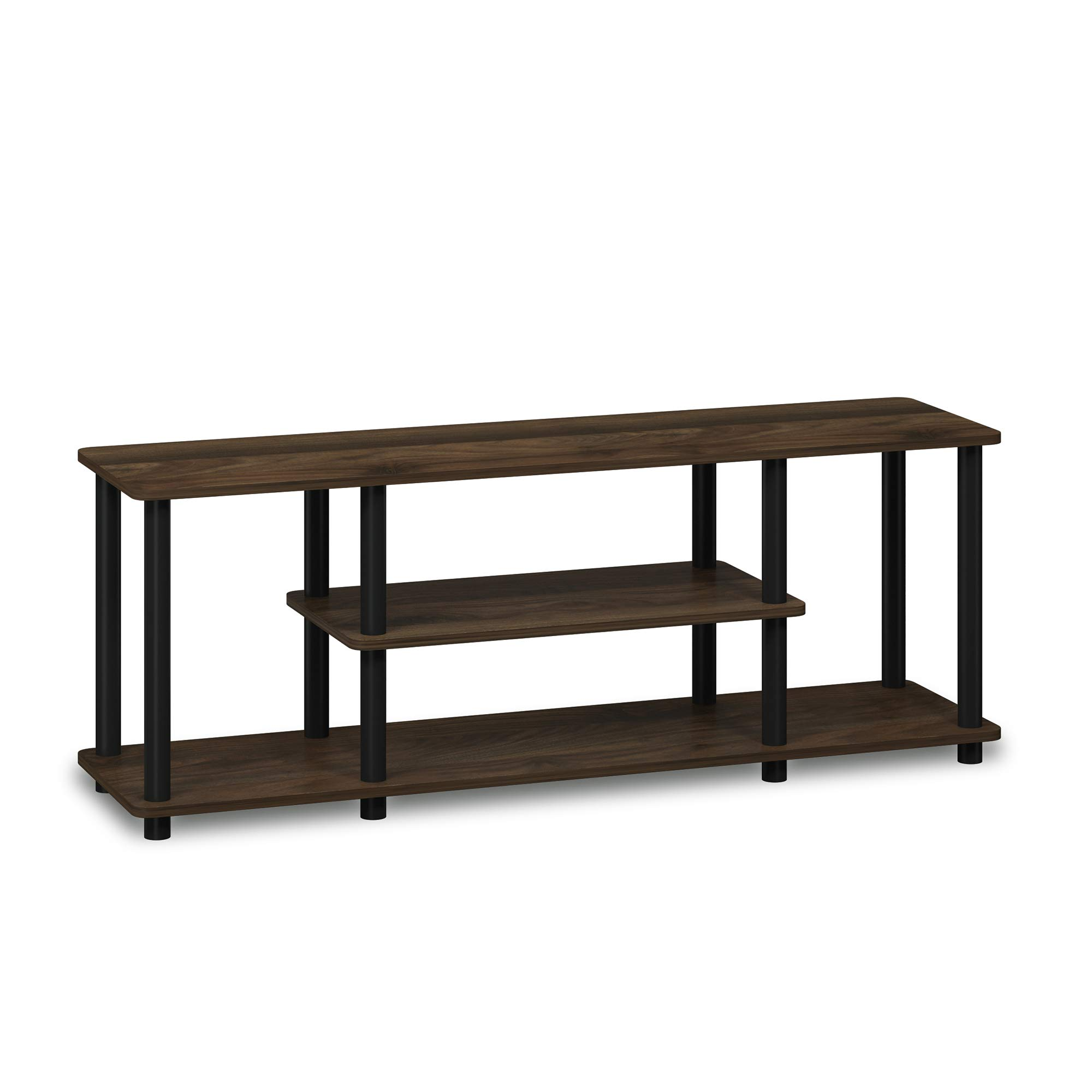 Furinno 12250GYW/BK Turn-N-Tube 3-Tier Entertainment Tv Stand, French Oak Grey/Black