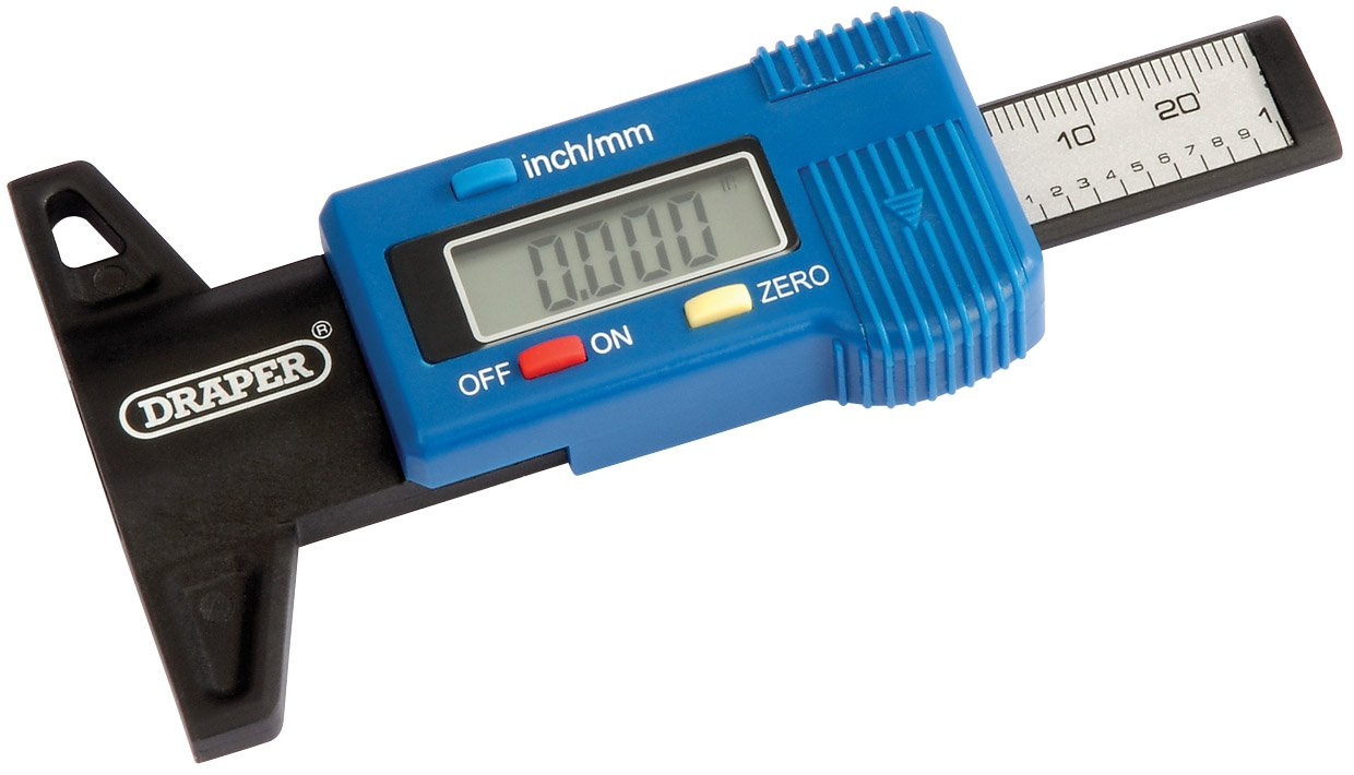 Draper 39590 Digital Tyre Tread Depth Gauge With Plastic Body Draper Tools
