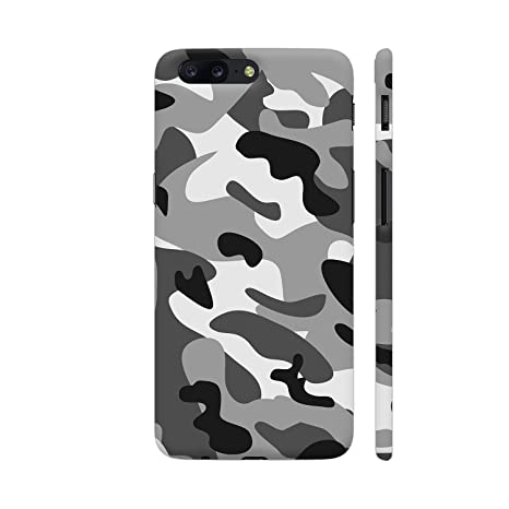 the latest a5d76 8292b Colorpur Camouflage Grey 2 Printed Back Case Cover for OnePlus 5