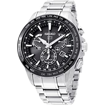 Men s Seiko Astron GPS Solar Dual Time Dual time indicator (40 time zones)  SSE077 153c2f173394