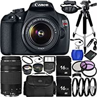 Canon EOS Rebel T5 DSLR Camera Bundle with 18-55mm f/3.5-5.6 IS II Lens, EF 75-300mm f/4-5.6 III Lens, Carrying Case and Accessory Kit (21 Items) Explained Review Image