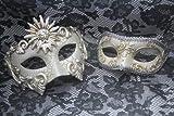 Venetian Phantom Silver Couple Vintage Masquerade Carnival Costume Mask ~New~