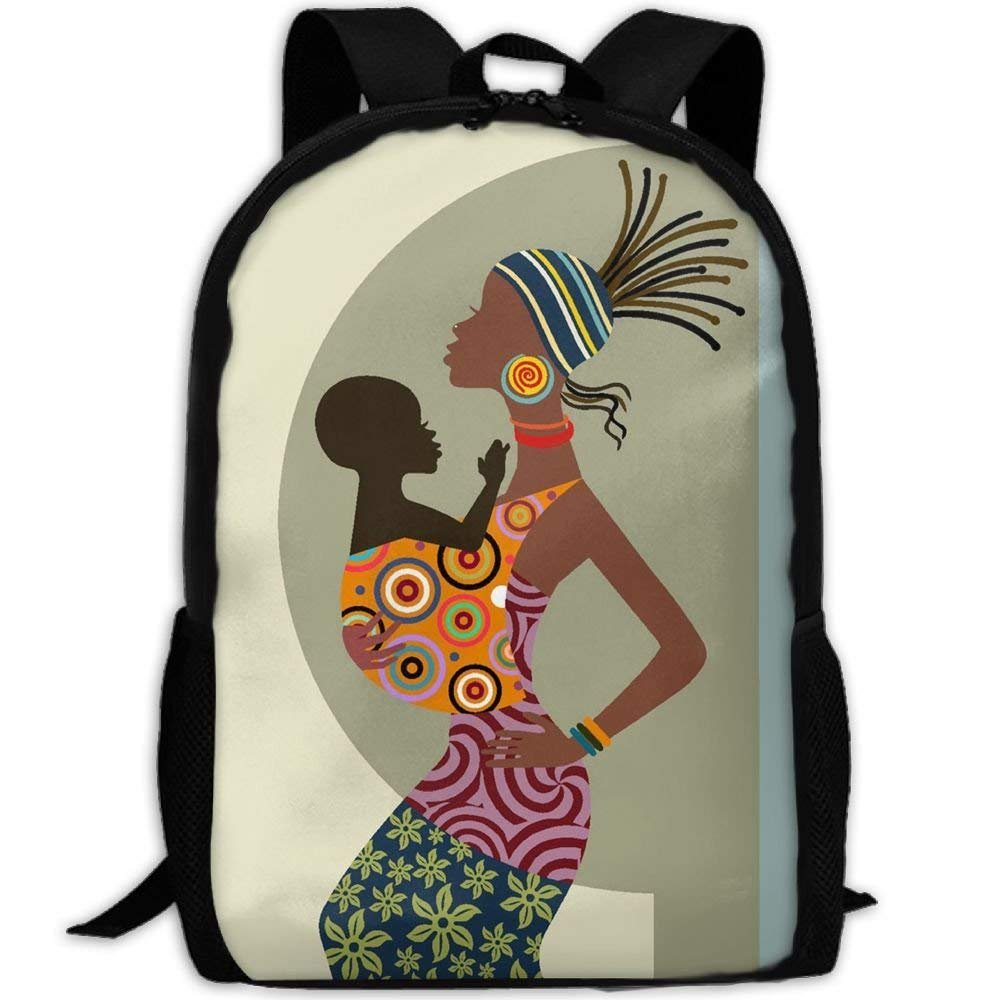 YIXKC Adult Backpack African American Mother Kid School Bag Travel Daypack