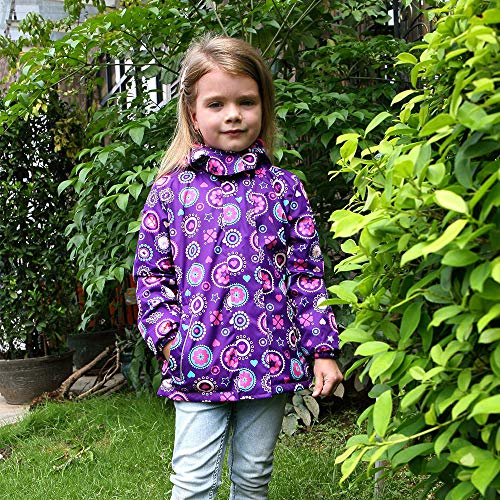C&X Girls Rain Jacket – Waterproof Jacket for Girls with Hood,Best for Rain School Day,Hiking and Camping (1302, 5)