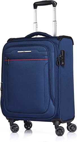 VERAGE Travel Luggage 19 Inch Softside with Spinner Wheels,Airline Approved Carry-on Suitcase with TSA Lock 19-Inch Carry On, Navy