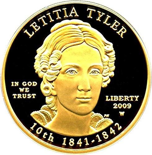 2009 W $10 First Spouse Letitia Tyler Ten Dollar PR69 PCGS DCAM