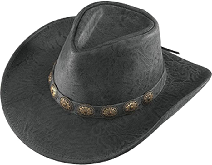 78177c0fb7a Amazon.com  Henschel Hats - WALKER Crunch Leather Western Cowboy Hat - Made  in the USA  Sports   Outdoors