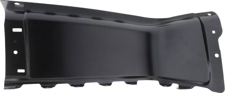 Rear Bumper End Compatible with CHEVROLET SILVERADO//SIERRA 1500 2007-2013//2500 HD//3500 HD 2007-2014 RH Black Steel All Cab Types