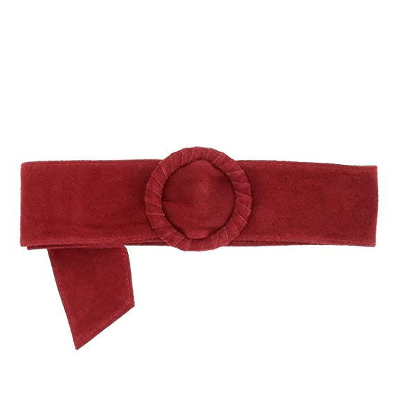 99218e2939a moonbow Ceinture Large Cuir Rouge Bordeaux - Ceinture Robe - Ceinture Femme  Corset
