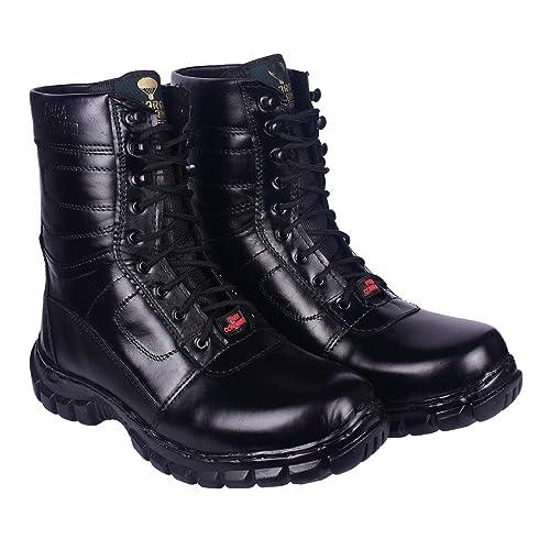 Buy Mens Black Genuine Leather Army