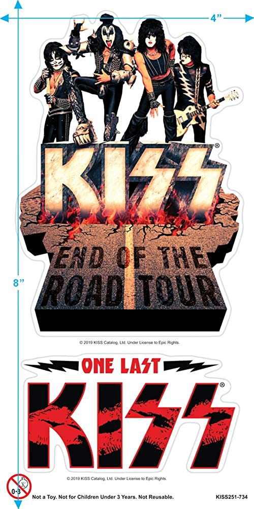 Official KISS Band T-Shirt End of the Road Farewell Tour 2019 Gift for Men//Women