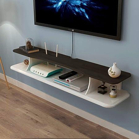 TLMY Consola de TV Multimedia montada en la Pared Estante de Audio/Video TV en Rack Caja de Cable enrutador componente Estante Control Remoto Reproductor de DVD Mueble para TV de Pared: Amazon.es: