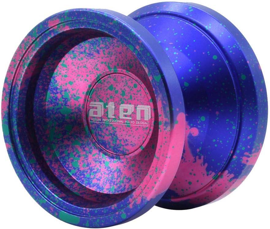 VOSUN Unresponsive yoyo Aten Aluminium yoyo Splashed Colors YOYO Purple Splash