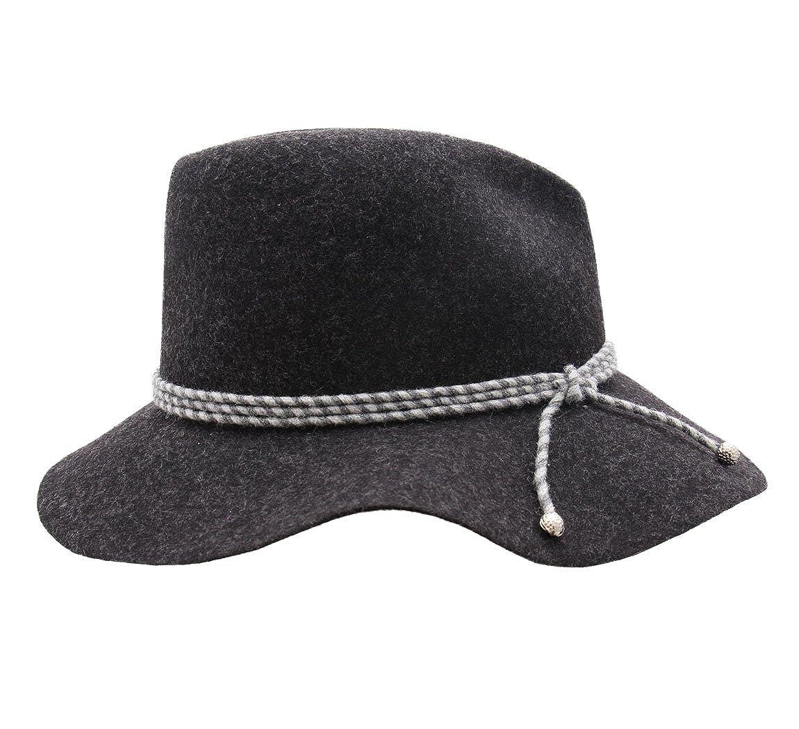 Marzi Womens H/él/ène Wool Felt Fedora Hat Packable