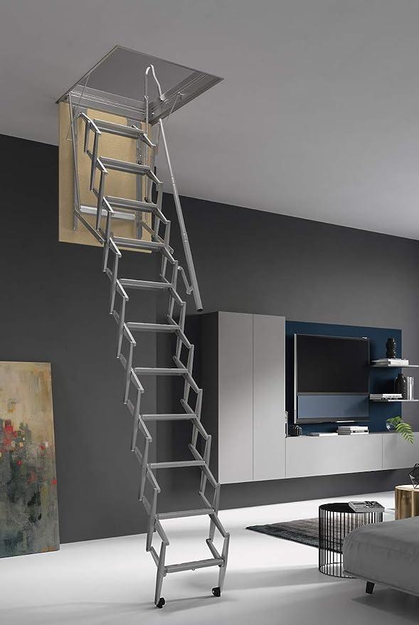 HASTA 150 Kg DE CARGA! Escalera plegable y escamoteable para hueco de 50x100 cm.: Amazon.es: Bricolaje y herramientas