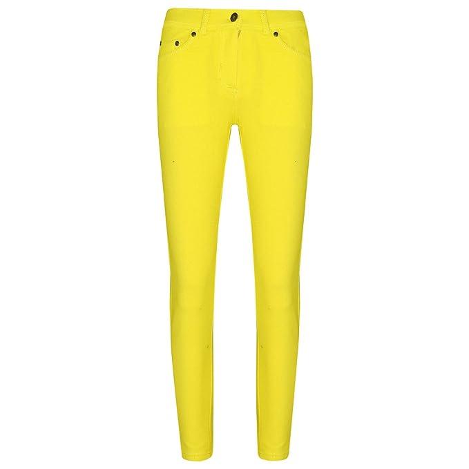 3437e41d652cc Girls Skinny Jeans Kids Lemon Stretchy Denim Jeggings Fit Pants Trousers 5-13  Yr