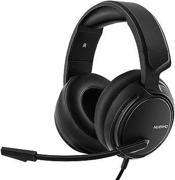 NUBWO N12 Xbox One PS4 auriculares para juegos, auriculares estéreo con cable con control de volumen y silencio, auriculares con micrófono de reducción de ruido para Nintendo Switch: Amazon.es: Electrónica