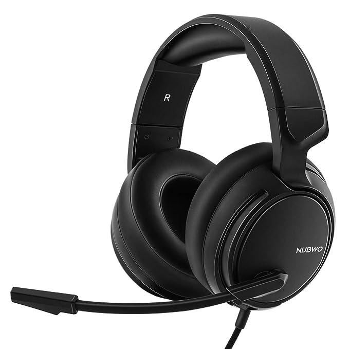 NUBWO N12 Xbox One PS4 auriculares para juegos, auriculares estéreo con cable con control de volumen y silencio, auriculares con micrófono de reducció...