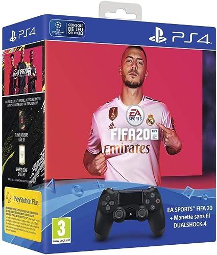 Dual Shock 4 V2 + FIFA 20 + FUT voucher + PS Plus 14 Jours - noir ...