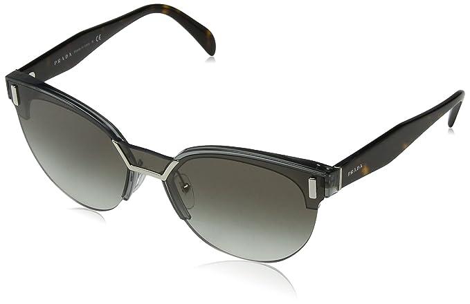 83142ecf1f22 Prada Women's 0PR04US VIP0A7 43 Sunglasses, Transparent Grey/Gradient