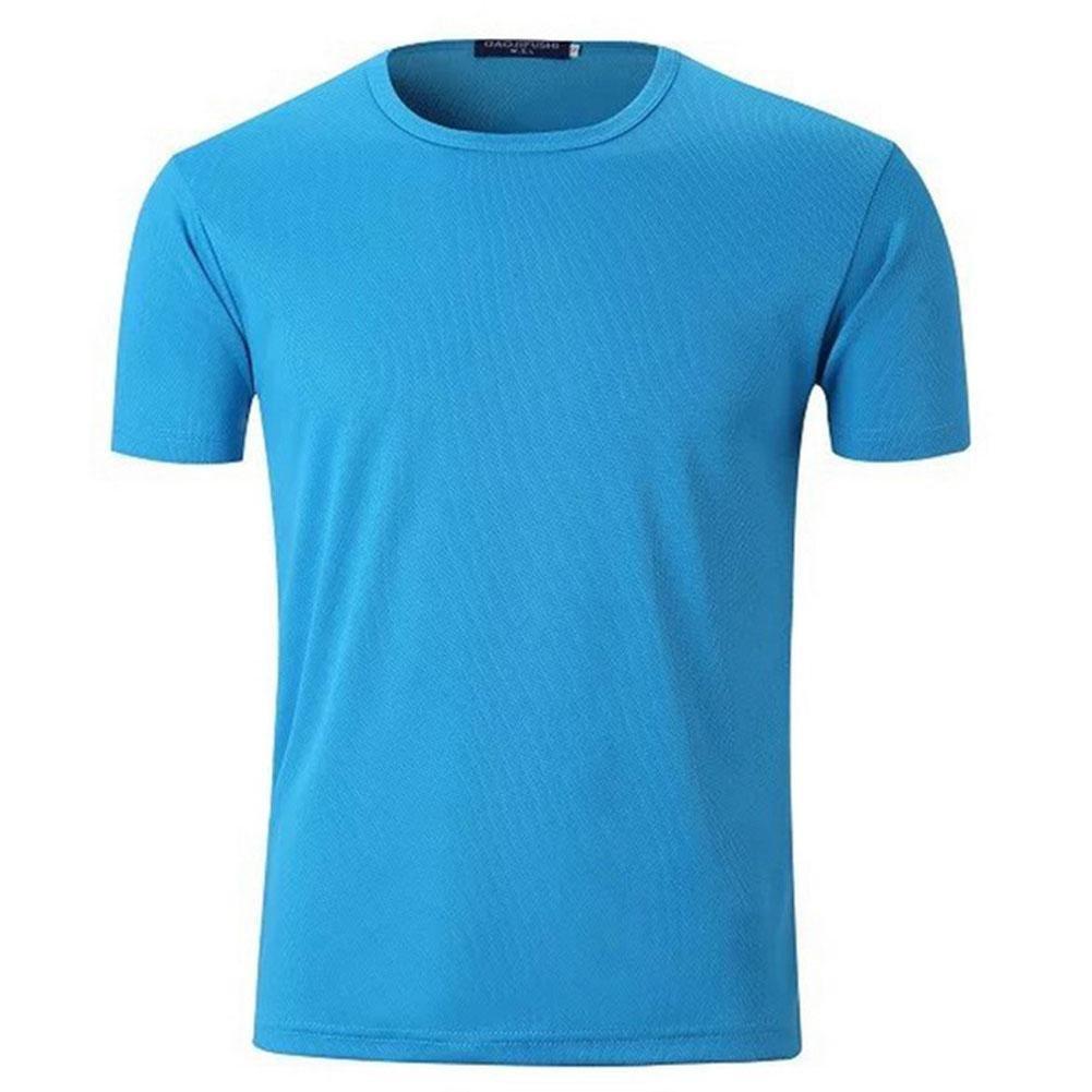 BBYaKi Delgada De Manga Corta Camiseta, Blue, XXL