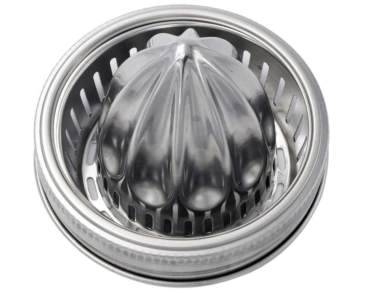 Jarware Stainless Steel Juicing Lid with Rust Proof Band for Wide Mouth Mason Jars