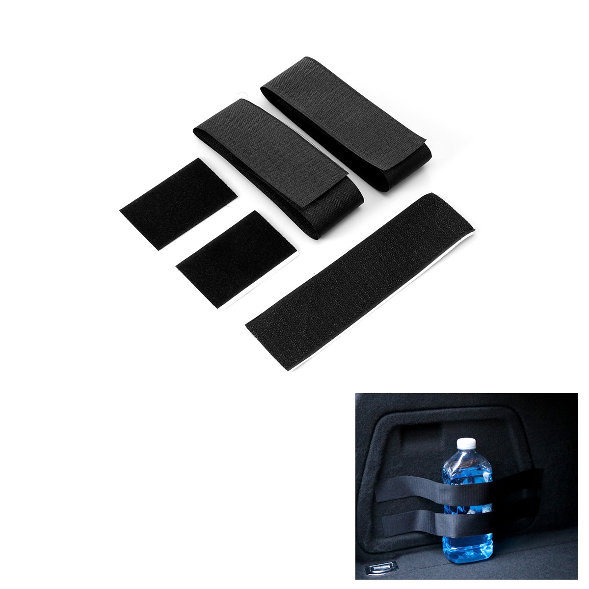 ONEVER Car Trunk Fixing Belt Extinguisher Fixing Strap Organizer Band Magic Tape Set Design Sticky Vehicle Accessories
